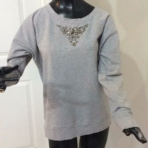 Beaded sweater medium